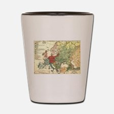 Vintage Linguistic Map of Europe (1907) Shot Glass