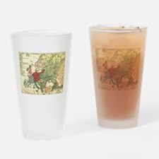 Vintage Linguistic Map of Europe (1 Drinking Glass