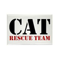 Cat Rescue Team Rectangle Magnet