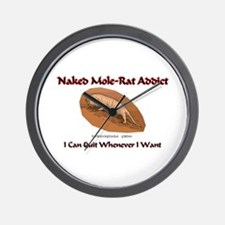 Naked Mole-Rat Addict Wall Clock