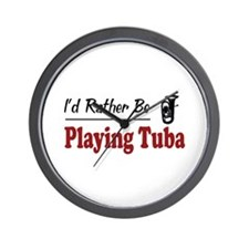 Rather Be Playing Tuba Wall Clock