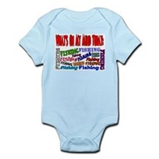 On my mind today FISHING Infant Bodysuit