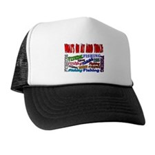 On my mind today FISHING Trucker Hat