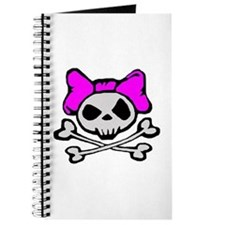 Cute Girly skulls Journal