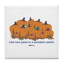 in a Pumpkin Patch Tile Coaster