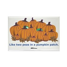 in a Pumpkin Patch Rectangle Magnet