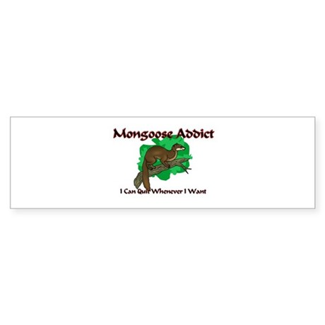 Mongoose Addict Bumper Sticker