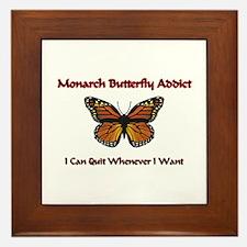 Monarch Butterfly Addict Framed Tile