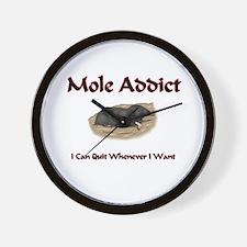 Mole Addict Wall Clock