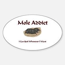 Mole Addict Oval Decal