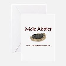 Mole Addict Greeting Cards (Pk of 10)