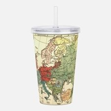 Vintage Linguistic Map Acrylic Double-wall Tumbler