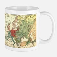 Vintage Linguistic Map of Europe (1907) Mugs
