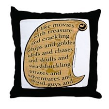 Summer Movies Throw Pillow