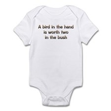 CW Bird In Hand Infant Bodysuit