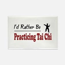 Rather Be Practicing Tai Chi Rectangle Magnet