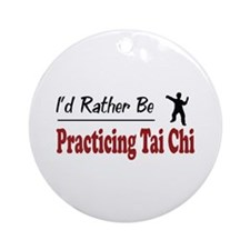 Rather Be Practicing Tai Chi Ornament (Round)