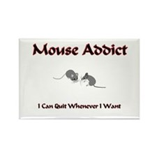 Mouse Addict Rectangle Magnet