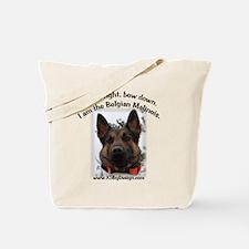 Bow Down Belgian Malinois Tote Bag