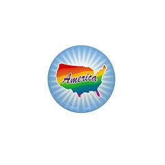 Rainbow America Mini Button (100 pack)