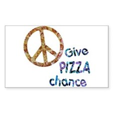 Give Pizza Chance Rectangle Decal