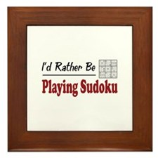 Rather Be Playing Sudoku Framed Tile