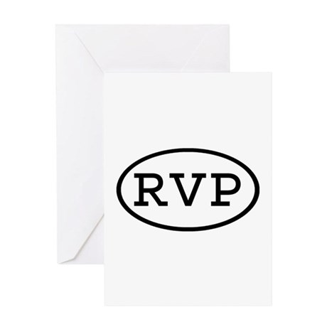 RVP Oval Greeting Card