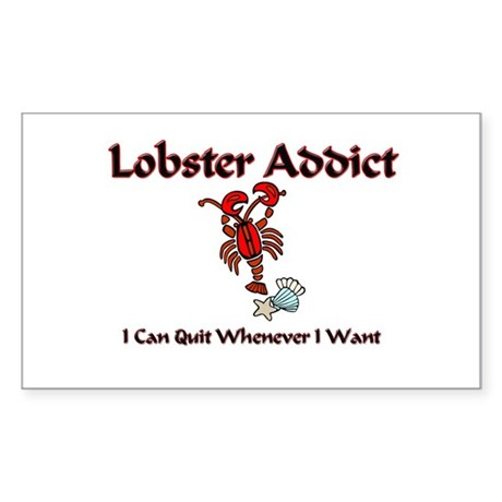 Lobster Addict Rectangle Sticker
