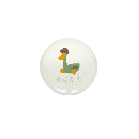 ASL Duck Mini Button (10 pack)