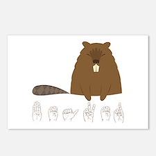 ASL Beaver Postcards (Package of 8)