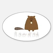 ASL Beaver Oval Decal