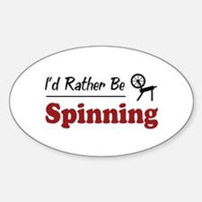 Rather Be Spinning Oval Sticker (10 pk)