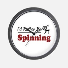 Rather Be Spinning Wall Clock