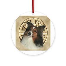 Celtic Sheltie Ornament (Round)