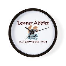 Lemur Addict Wall Clock