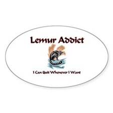 Lemur Addict Oval Decal