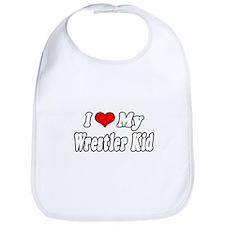 """I Love My Wrestling Kid"" Bib"