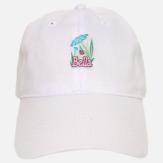 Bella Ladybug Flower Baseball Baseball Cap