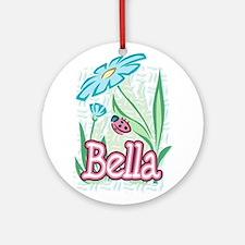 Bella Ladybug Flower Ornament (Round)