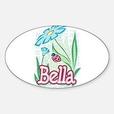 Bella Ladybug Flower Oval Decal