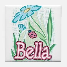 Bella Ladybug Flower Tile Coaster
