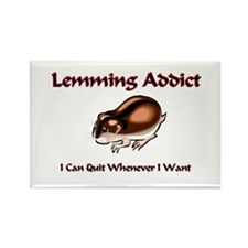 Lemming Addict Rectangle Magnet