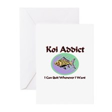 Koi Addict Greeting Cards (Pk of 10)
