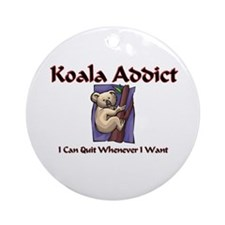Koala Addict Ornament (Round)