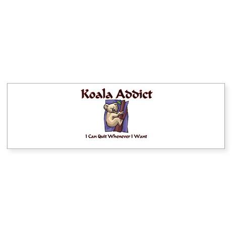 Koala Addict Bumper Sticker