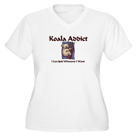 Koala Addict Women's Plus Size V-Neck T-Shirt