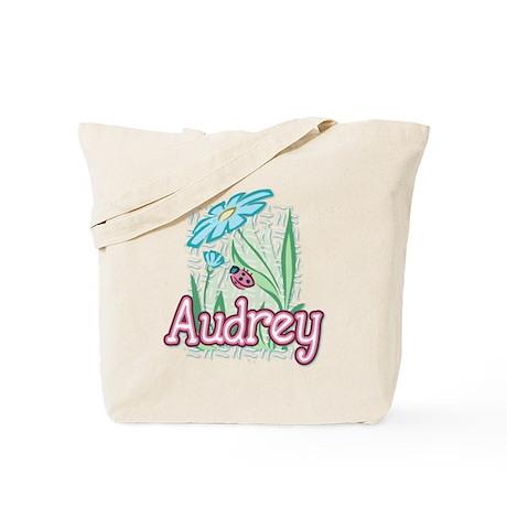 Audrey Ladybug Flower Tote Bag