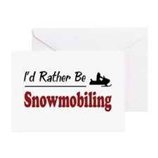 Rather Be Snowmobiling Greeting Card