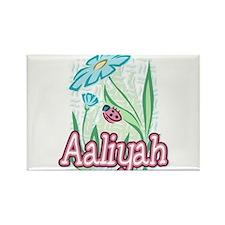Aaliyah Ladybug Flower Rectangle Magnet
