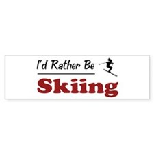 Rather Be Skiing Bumper Bumper Stickers